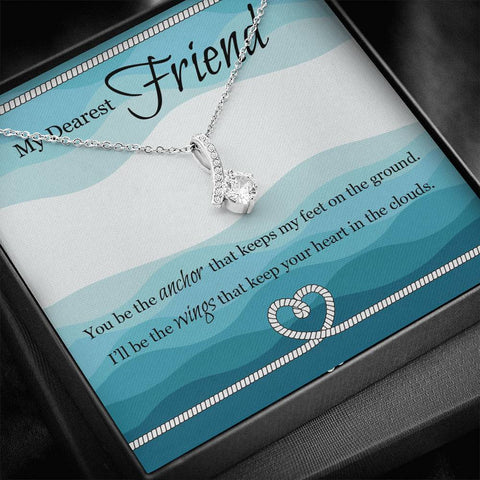 Gift For Best friend with Message Card - Best Friend Gift, Best Friend Necklace, Best Friends Forever, Quotes for Friend, A7