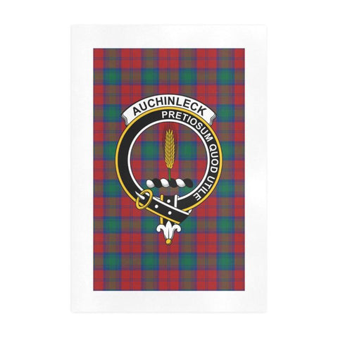 Auchinleck Clan Tartan Art Print F1 One Size / 19í_í‡X28í_í‡ Prints