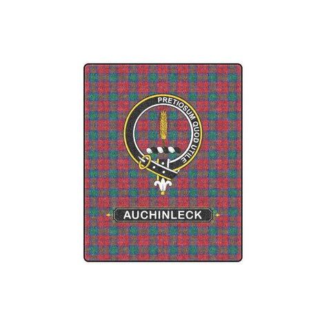 Image of Auchinleck Or Affleck Clan Tartan Blanket Dn1 One Size / 40X50 Blankets
