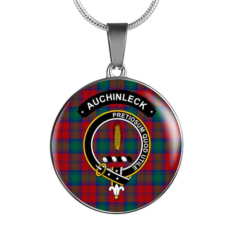 Auchinleck Or Affleck Clan Tartan Silver ( Necklace And Bangle) F1 Jewelries