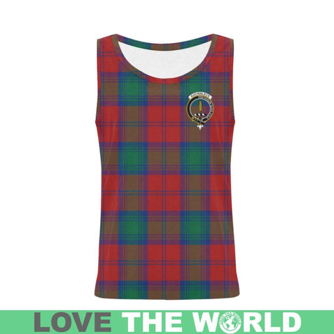 Image of Auchinleck Tartan Clan Badge All Over Print Tank Top Nl25 Xs / Men Tops