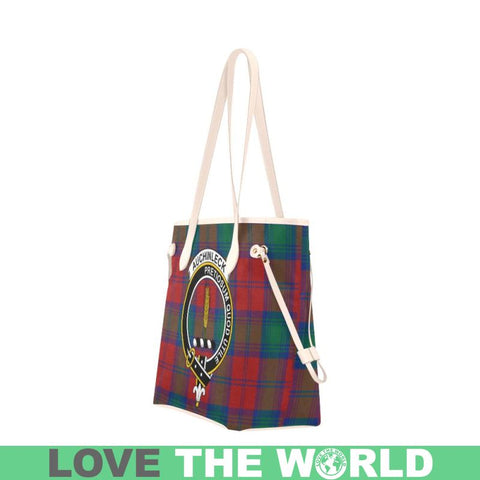 Auchinleck Tartan Clan Badge Clover Canvas Tote Bag C33 Bags