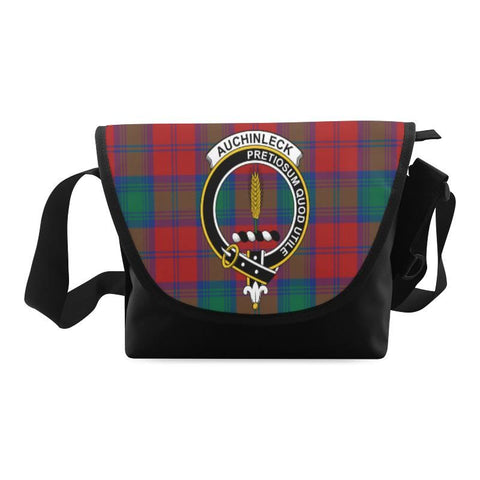 AUCHINLECK TARTAN CLAN BADGE CROSSBODY BAG NN5