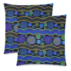 Australia 05 Pillow Case F1 One Size / Zippered Pillow Cases 18X 18 (Twin Sides) (Set Of 2) Zippered