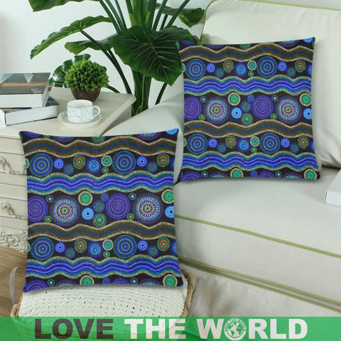 Image of Australia 05 Pillow Case F1 One Size / Zippered Pillow Cases 18X 18 (Twin Sides) (Set Of 2) Zippered