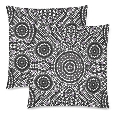 Image of Australia 15 Pillow Case F1 One Size / 8 Custom Zippered Pillow Cases 18X 18 (Twin Sides) (Set Of 2)
