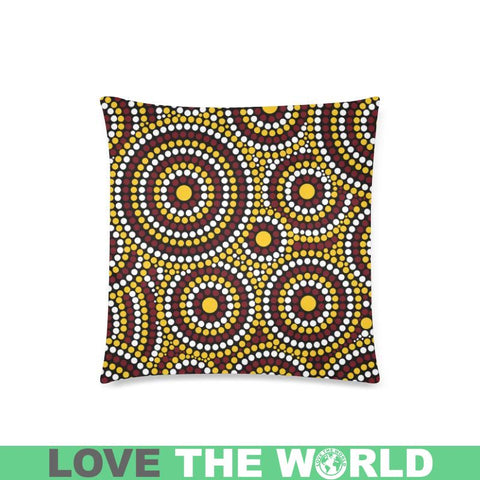 Australia Aboriginal 22 Pillow H4 One Size / Aboriginal Custom Zippered Pillow Cases 18X 18 (Twin