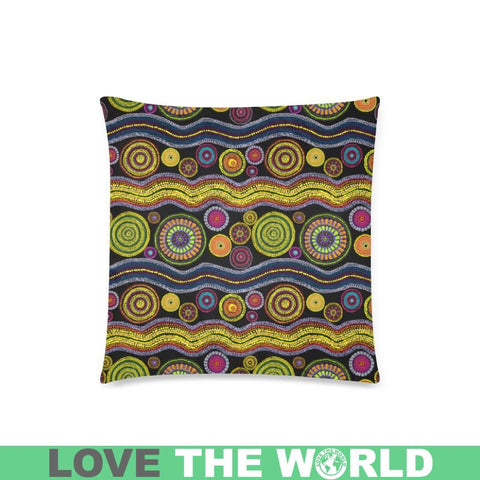 Image of Australia Aboriginal 23 Pillow H4 One Size / Aboriginal Custom Zippered Pillow Cases 18X 18 (Twin