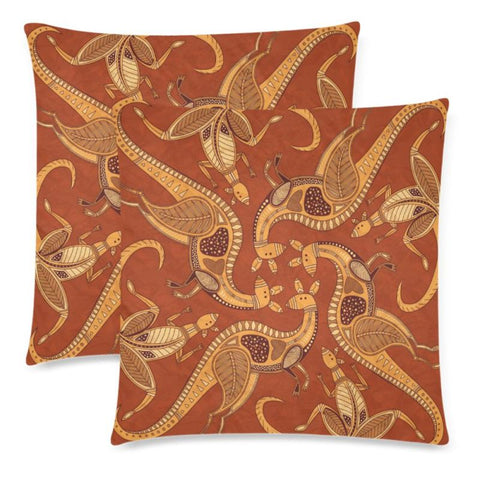 Image of Australia Aboriginal 24 Pillow H4 One Size / Aboriginal Custom Zippered Pillow Cases 18X 18 (Twin