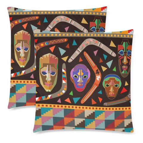 Australia Aboriginal 26 Pillow H4 One Size / Aboriginal Custom Zippered Pillow Cases 18X 18 (Twin