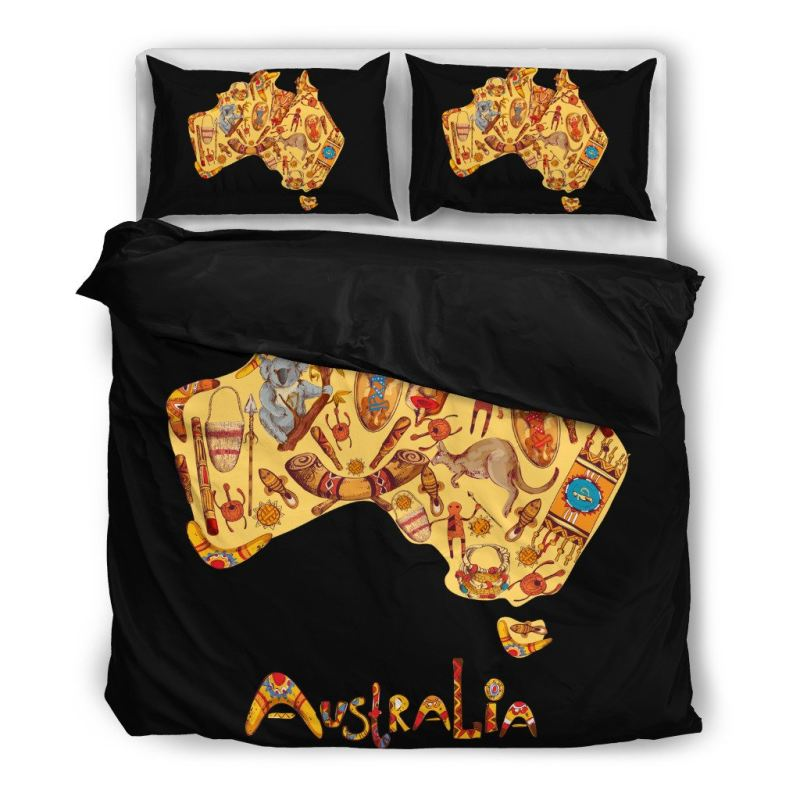 Australia Bedding Sets Hm2 Bedding Set - Black Black / Twin