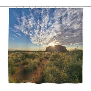 Australia Belly Button Shower Curtain Y1 Curtains