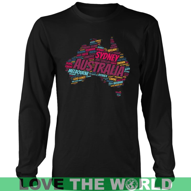 Australia - City In Map A9 District Unisex Shirt / Royal Blue S T-Shirts