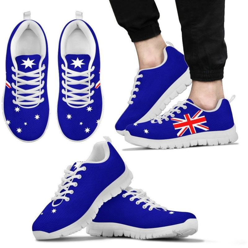 Australia Flag Sneakers Mens Sneakers - White / Us5 (Eu38)