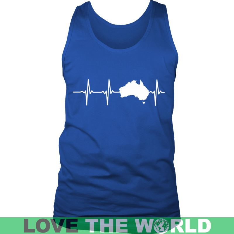 Australia In My Heartbeat A8 Guys Tee / Royal Blue S T-Shirts
