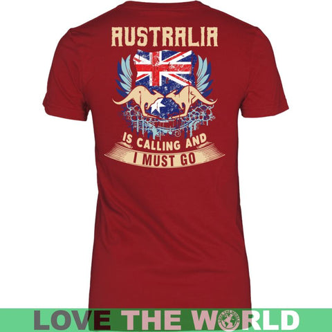 Image of Australia Is Calling And I Must Go A9 District Unisex Shirt / Red S T-Shirts