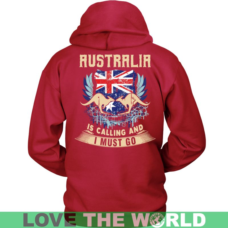 Australia Is Calling And I Must Go A9 District Unisex Shirt / Red S T-Shirts