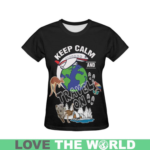Australia Keep Calm Travel T-Shirt S12 S / Men Polyester - All Over Print T-Shirts