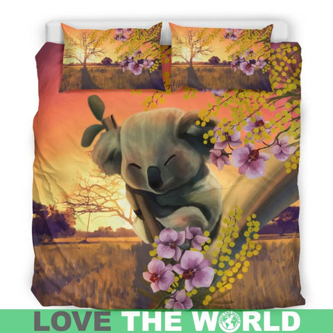 Australia Koala Bedding Set D5 Bedding Set - Black / Queen/full Sets