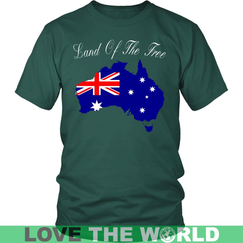 Australia - Land Of The Free A9 District Unisex Shirt / Royal Blue S T-Shirts