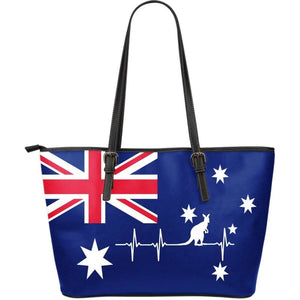Australia Large Leather Tote Bag ( Heartbeat) 01 Leather Totes