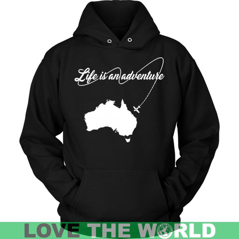 Australia - Life Is An Adventure T-Shirt J1 Gildan Mens T-Shirt / Black S T-Shirts