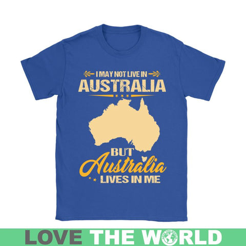 Image of Australia Lives In Me 28 Gildan Womens T-Shirt / Black S T-Shirts