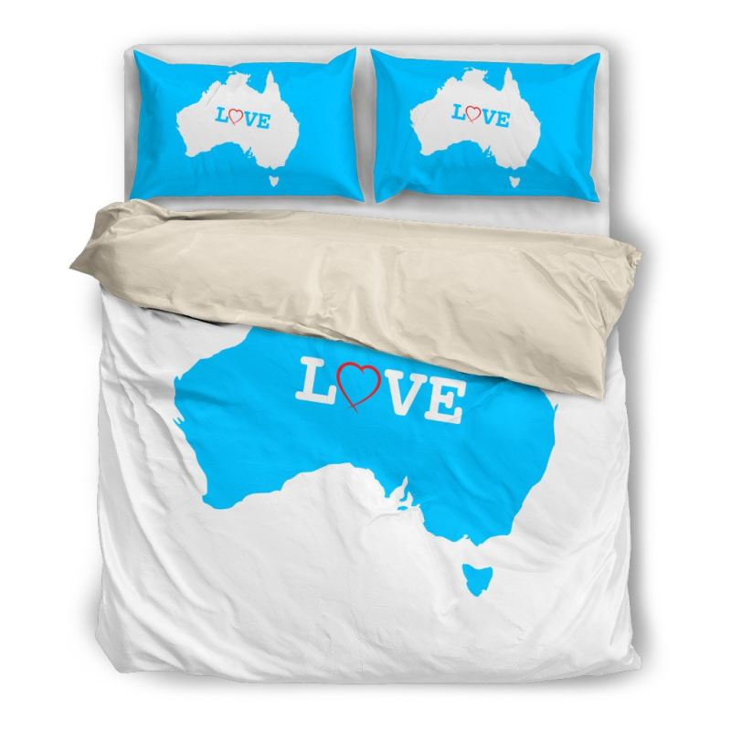 Australia Love - Bedding Set A9 Bedding Set Beige White Edition / Twin Sets
