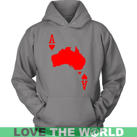 Image of Australia Map - Card A9 District Unisex Shirt / White S T-Shirts