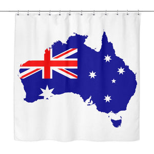 Shower curtains collection 1sttheworld australia map shower curtain x1 gumiabroncs Gallery