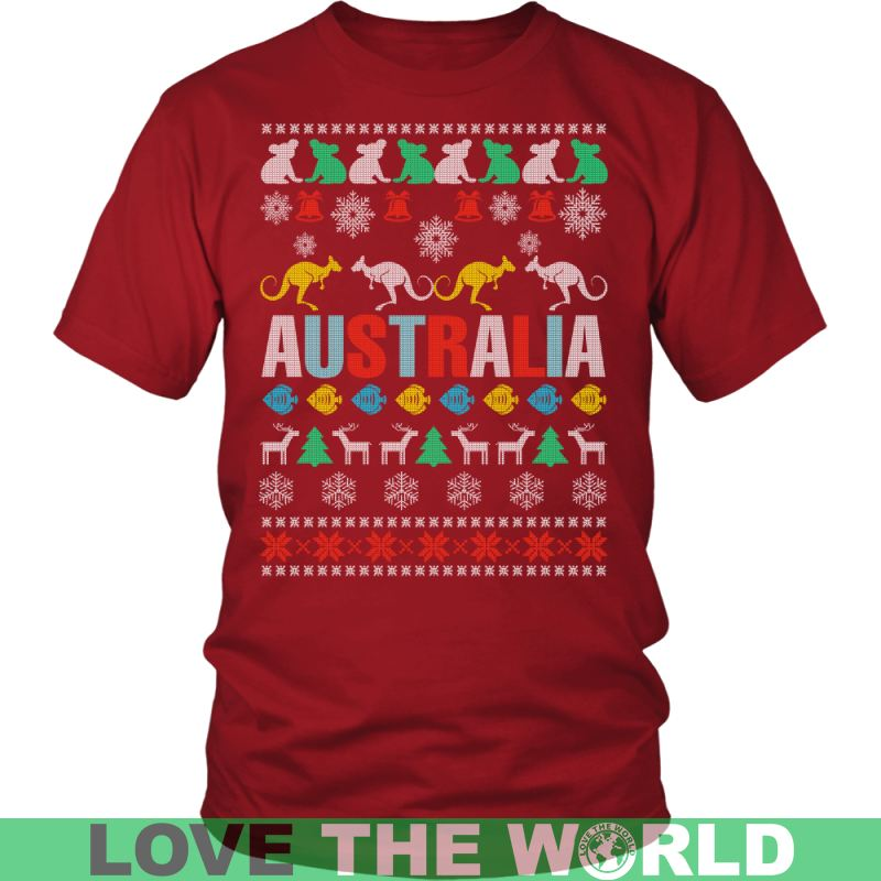 Australia - Merry Christmas T-Shirt J1 District Unisex Shirt / Royal Blue S T-Shirts