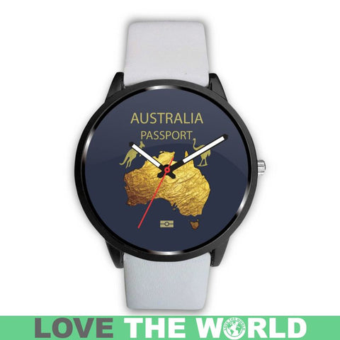 Australia Pattern Leather/steel Watch - Sd1 Mens 40Mm / Metal Link Leather-Steel Watches