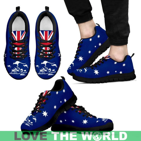 Image of Australia Flag Kangaroo And Sydney Opera Women's Sneakers