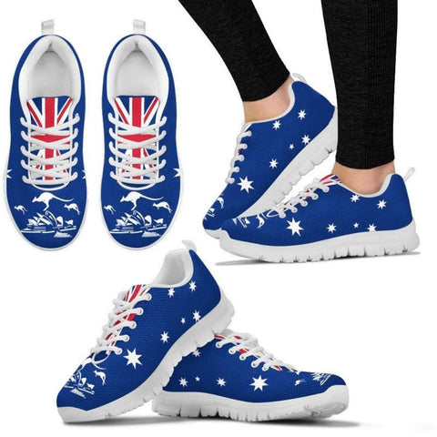 Australia Flag Kangaroo And Sydney Opera Women's Sneakers