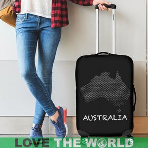 Map of australia luggage cover K5