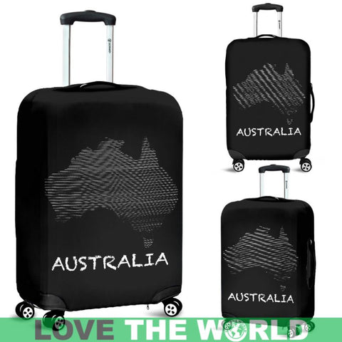 Australias Map Luggage Cover C1 Covers