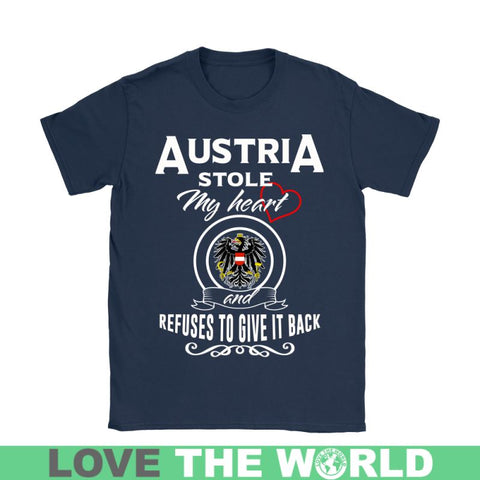 Image of Austria Stole My Heart T-Shirts Nh1 Gildan Womens T-Shirt / Black S