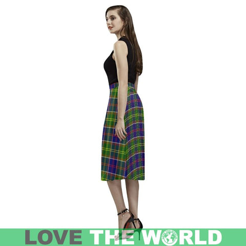 Ayrshire District Tartan Aoede Crepe Skirt S12 Skirts