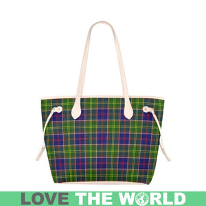 Ayrshire District Tartan Handbag - Tartan Clover Canvas Tote Bag NN5