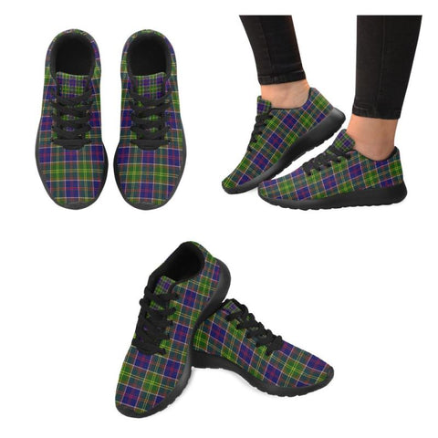 Image of Ayrshire District Tartan Running Shoes Hj4 Us5 / Ayrshire District Black Mens Running Shoes (Model