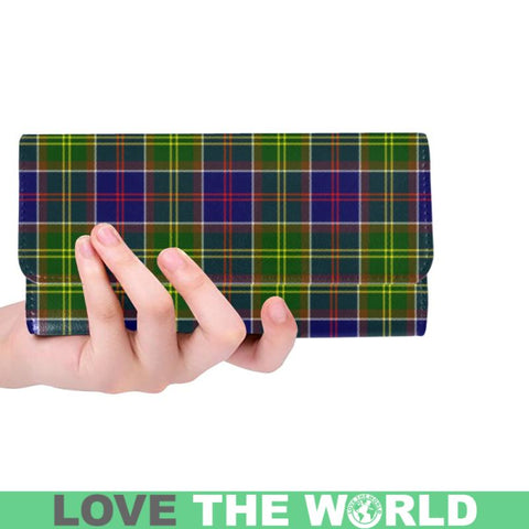 Ayrshire District Tartan Trifold Wallet V4 One Size / Ayrshire District Red Womens Trifold Wallet