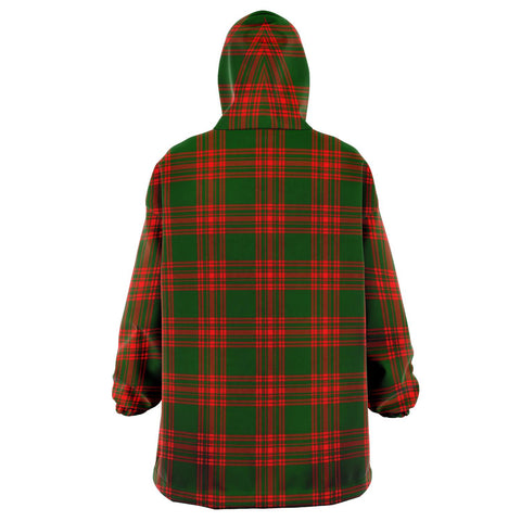 Menzies Green Modern Snug Hoodie - Unisex Tartan Plaid Back