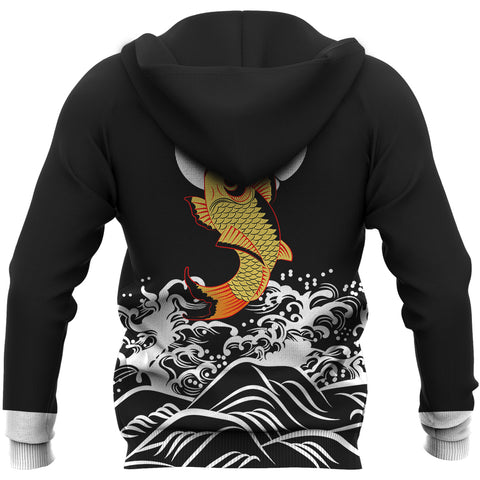 The Golden Koi Fish Hoodie A7