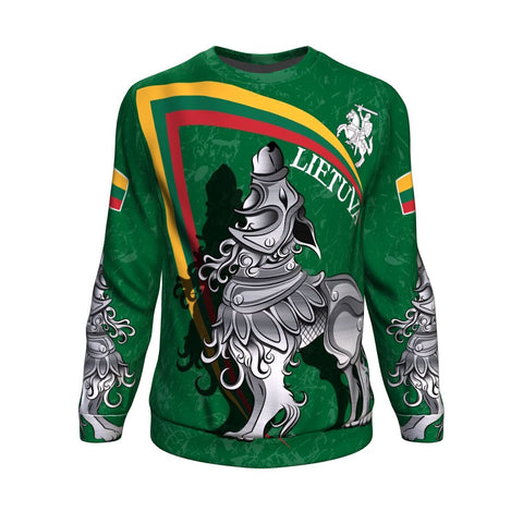 (Lietuva) Lithuania Sweatshirt - Lithuanian Iron Wolf | Women & Men