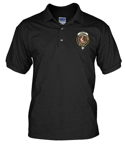 Image of Tartan Polo Shirt - Ainslie Badge (Men's)  | Over 300 Clans Tartan | Special Custom Design | Love Scotland