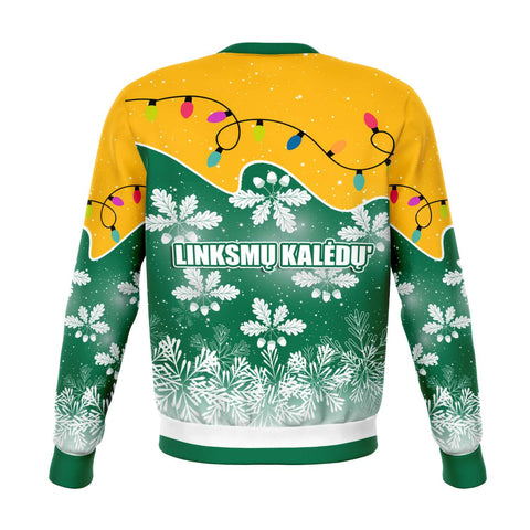Image of Lithuania Christmas Sweatshirt Oak Leaves - Lietuva K13