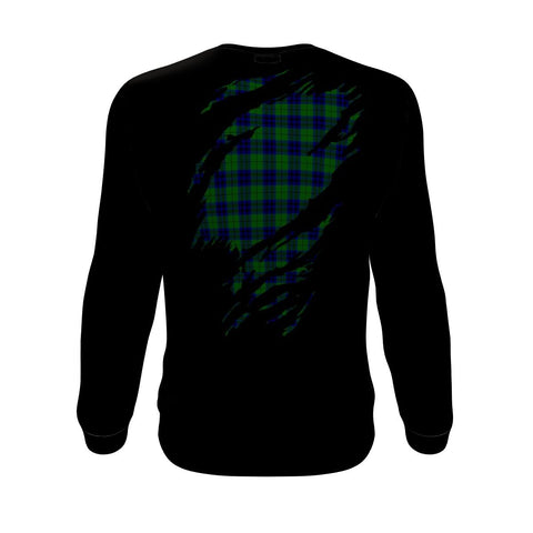Keith Tartan Sweatshirt K7 - Clan Badge
