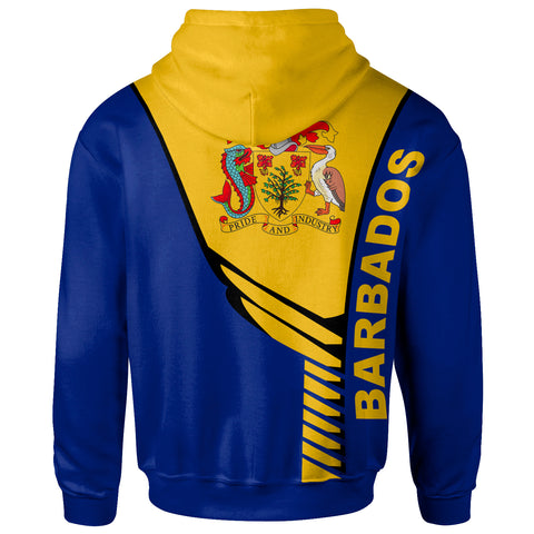 Image of Barbados Custom Personalised  Hoodie - Modern Style - Bn20