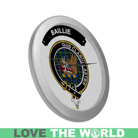 Image of Baillie Clan Tartan Wall Clock  - Love The World