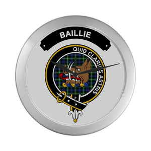 Baillie Clan Tartan Wall Clock  - Love The World